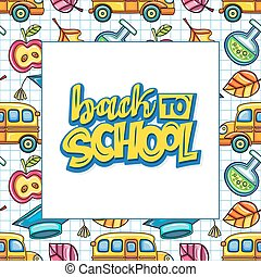 Back to school banner or frame. Education series