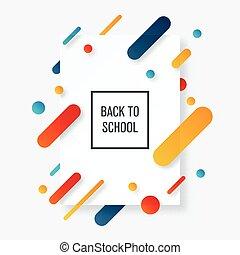 Back to school banner. School label
