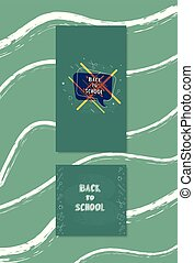 Back to school banner templates for social media. Vector illustration.