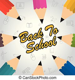 Back to school banner . Vector illustration.