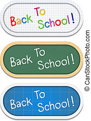 Back To School Banners