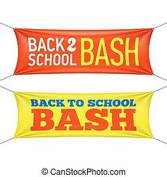 Back to School Bash banners illustration