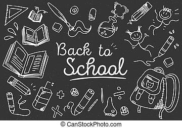 Back to school blackboard background.