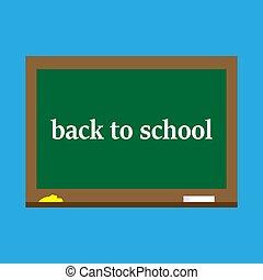 Back to school, blackboard