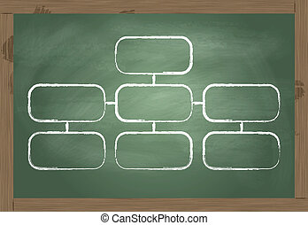 Back to school blackboard vector
