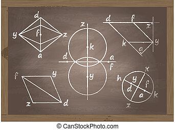 Back to school blackboard vector for poster