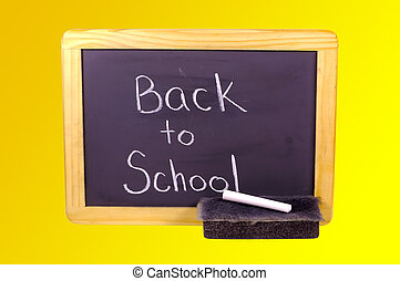 Back To School - Blackboard With Chalk and a Eraser....