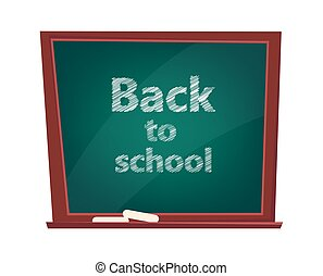 Back to school. Blackboard with chalk