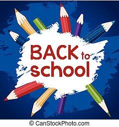 back to school blue