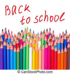 back to school border isolated on white background