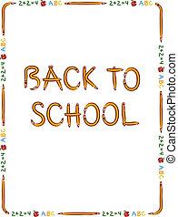 Back to school border