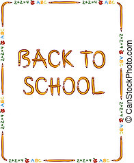 Back to school border