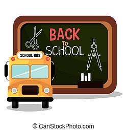 back to school bus and board design