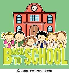 school and children
