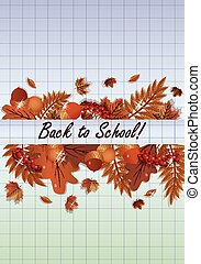Back to School card, vector
