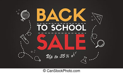 Back to school cartoon background footage collection