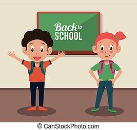 Back to school cartoon