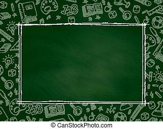 Back to School chalkboard background