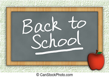 Back to School Chalkboard - Graphic illustration of slate...