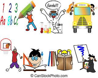 Back to school children vector