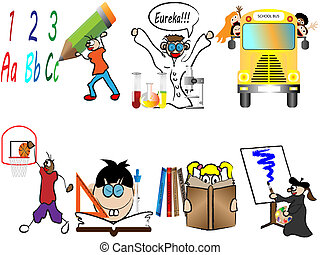 Back to school children vector