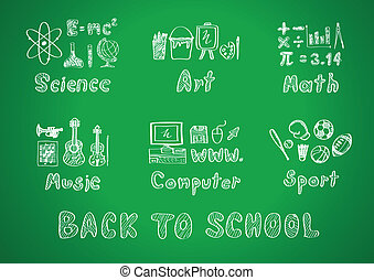 back to school - drawing of back to school, subject design,...