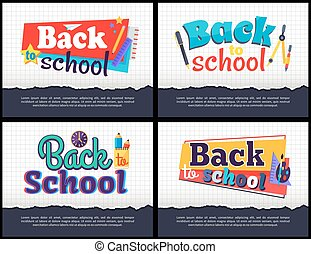 Back to School Collection of Colorful Stickers