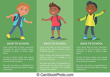 Back to School Collection of Posters with Kids
