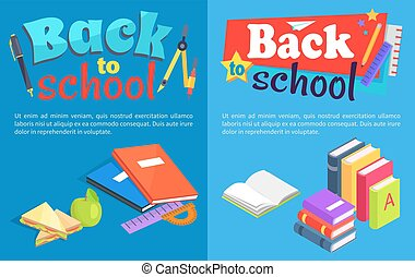 Back to School Collection of Posters with Text