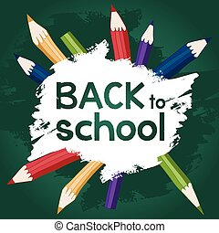 back to school color board