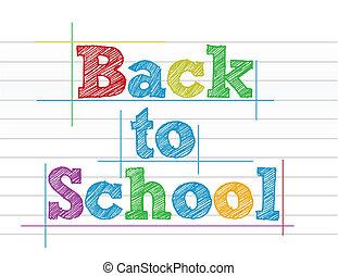 Back to school color illustration