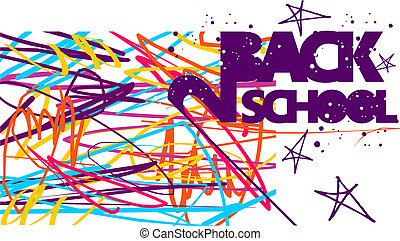 Back to school colorful background - Back to school grunge...