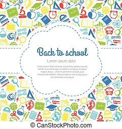 Back to school colorful background with space for text