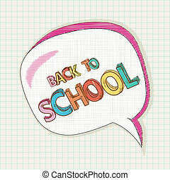 Back to school colorful social bubble education background.
