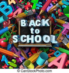 Back To School Concept - Back to school concept as a group ...