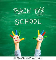 Back to school concept - Back to school. Schoolchild in ...