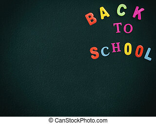 Back to school concept - chalkboard in classroom
