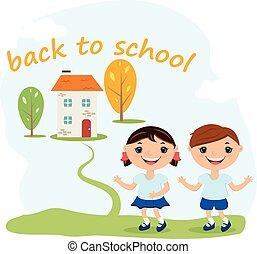 Back to school concept illustration background