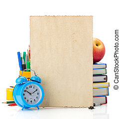back to school concept isolated on white background