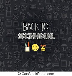Back to school concept. Lettering vector banner