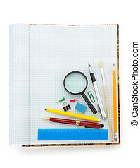 back to school concept on white
