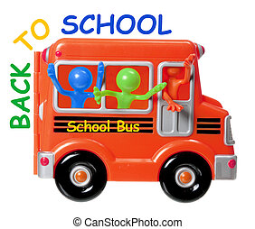 Back to School Concept on White Background