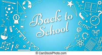 Back to school concept vector banner. Poster for sales and web promotions in school season