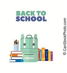 Back to school concept vector design