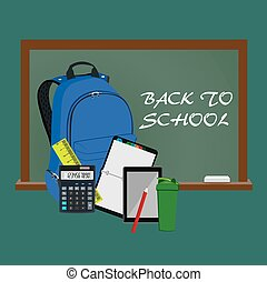 Back to school concept, vector