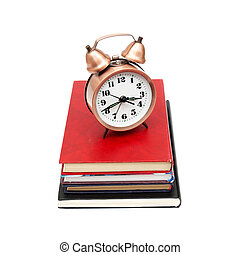 Back To School Concept With Books And Clock
