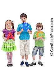 Back to school concept with preschool and school kids...