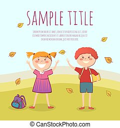 Welcome back to school conept vector illustration