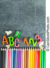 Back to school design blank with black board.