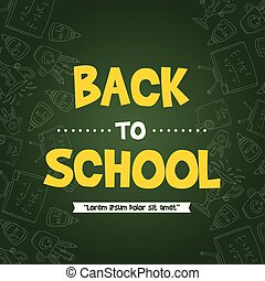 Back to school design greeting card